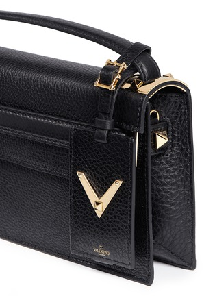 Detail View - Click To Enlarge - Valentino - 'My Rockstud' pebbled leather clutch