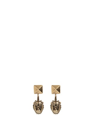 Main View - Click To Enlarge - Valentino - Tribal lion mask earrings