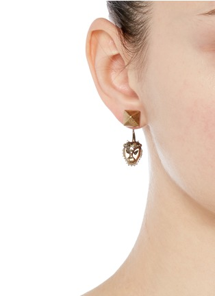 Figure View - Click To Enlarge - Valentino - Tribal lion mask earrings