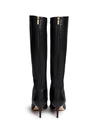 Back View - Click To Enlarge - Jimmy Choo - 'Gem' grainy leather zip boots