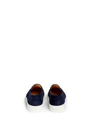 Back View - Click To Enlarge - Bing Xu - 'Tribeca Sailing' embroidery velvet skate slip-ons