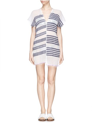 Main View - Click To Enlarge - Lemlem - 'Zare' stripe split cotton tunic cover-up