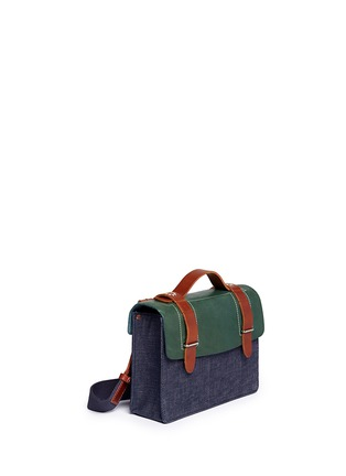 Detail View - Click To Enlarge - SEVENTY EIGHT PERCENT - Zazie leather denim mini satchel