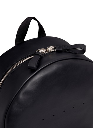 Detail View - Click To Enlarge - Alexander McQueen - Stud strap leather backpack