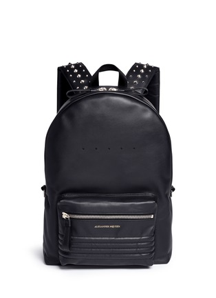 Main View - Click To Enlarge - Alexander McQueen - Stud strap leather backpack