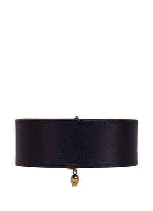 Figure View - Click To Enlarge - Alexander McQueen - AMQ skull charm leather bracelet