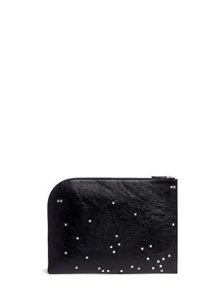Back View - Click To Enlarge - Alexander McQueen - Pixel skull stud zip pouch