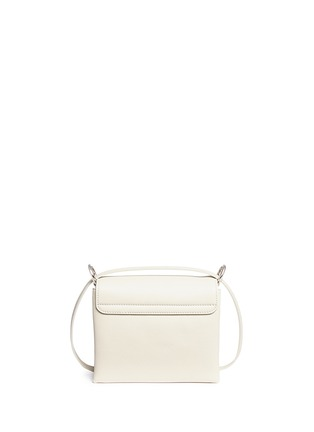 Back View - Click To Enlarge - ALEXANDER MCQUEEN - Twin skull leather satchel