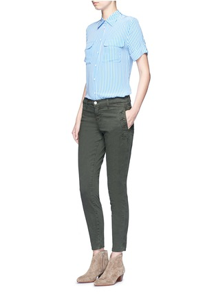 Figure View - Click To Enlarge - J Brand - 'Zion' mid rise skinny pants