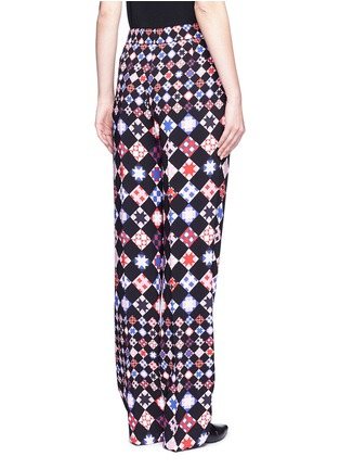 Back View - Click To Enlarge - Emilio Pucci - Monreale check straight leg suiting pants