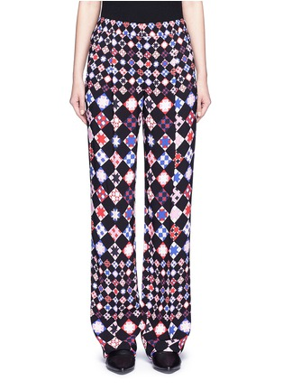 Main View - Click To Enlarge - Emilio Pucci - Monreale check straight leg suiting pants