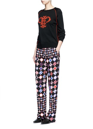 Figure View - Click To Enlarge - Emilio Pucci - Monreale check straight leg suiting pants