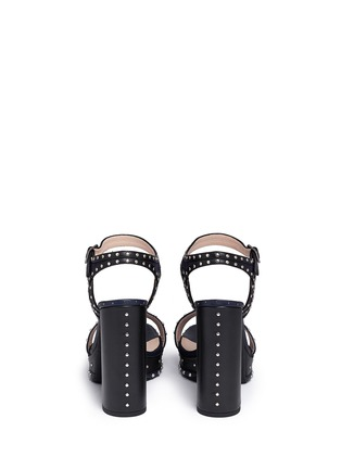 Back View - Click To Enlarge - Lanvin - Stud strass colourblock leather platform sandals