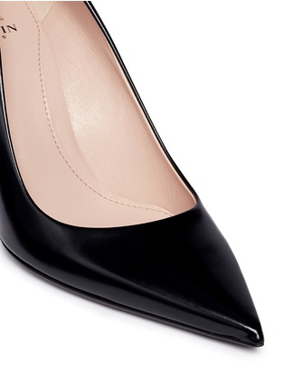 Detail View - Click To Enlarge - Lanvin - Faux pearl Spazzolato leather pumps