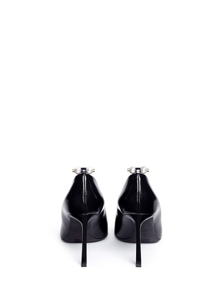 Back View - Click To Enlarge - LANVIN - Faux pearl Spazzolato leather pumps