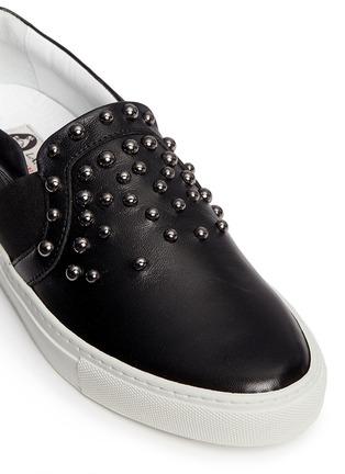 Detail View - Click To Enlarge - Lanvin - 'Basket' stud leather skate slip-ons
