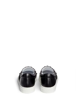 Back View - Click To Enlarge - Lanvin - 'Basket' stud leather skate slip-ons