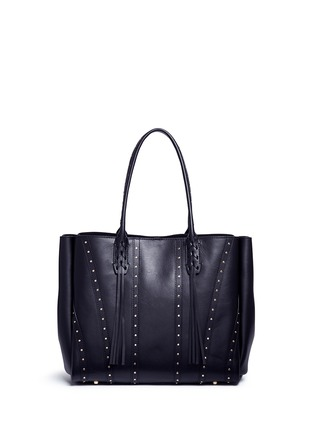 Back View - Click To Enlarge - Lanvin - ''Small Shopper' stud tassel leather tote bag