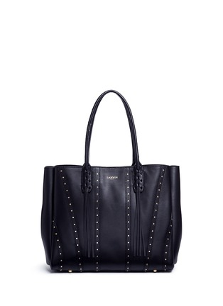 Main View - Click To Enlarge - Lanvin - ''Small Shopper' stud tassel leather tote bag