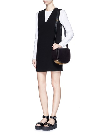 Figure View - Click To Enlarge - Alexander Wang  - Lia' leather saddle sling bag