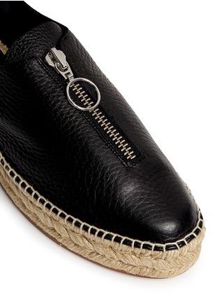 Detail View - Click To Enlarge - Alexander Wang  - Devon' zip leather espadrille sneakers