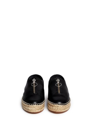 Front View - Click To Enlarge - Alexander Wang  - Devon' zip leather espadrille sneakers