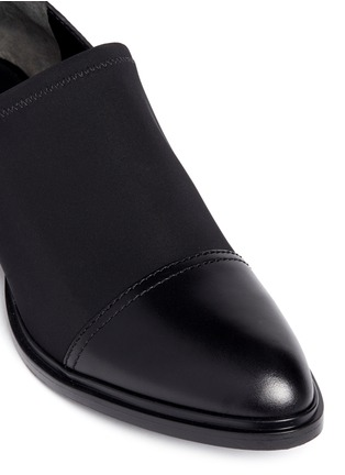 Detail View - Click To Enlarge - Alexander Wang  - 'Kori' neoprene vamp cutout heel leather booties