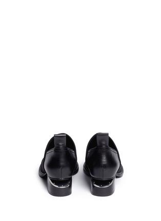 Back View - Click To Enlarge - Alexander Wang  - 'Kori' neoprene vamp cutout heel leather booties