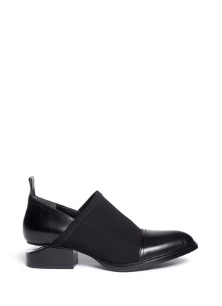 Main View - Click To Enlarge - Alexander Wang  - 'Kori' neoprene vamp cutout heel leather booties