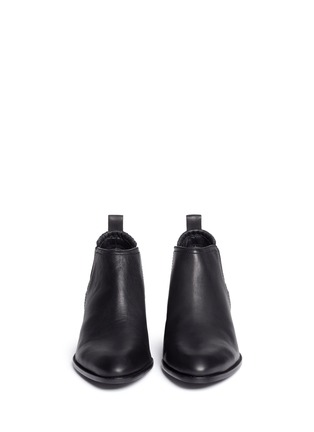 Front View - Click To Enlarge - Alexander Wang  - Kori' cutout heel leather ankle boots