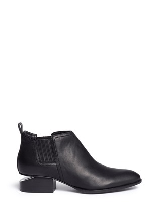 Main View - Click To Enlarge - Alexander Wang  - Kori' cutout heel leather ankle boots