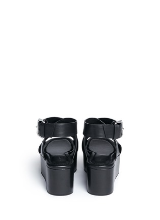 Back View - Click To Enlarge - Alexander Wang  - 'Rudy' crisscross leather platform sandals