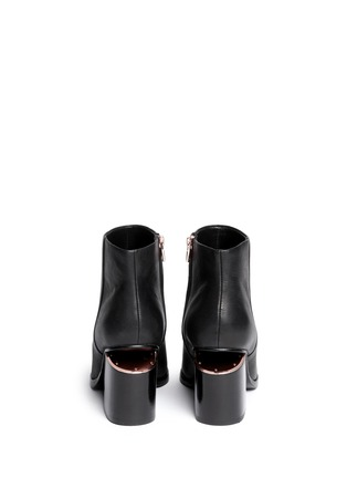 Back View - Click To Enlarge - ALEXANDERWANG - 'Gabi' cutout heel leather boots