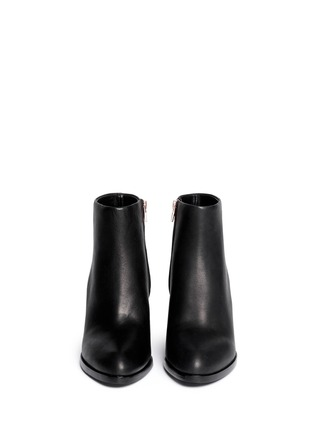 Front View - Click To Enlarge - ALEXANDERWANG - 'Gabi' cutout heel leather boots