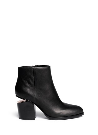 Main View - Click To Enlarge - ALEXANDERWANG - 'Gabi' cutout heel leather boots