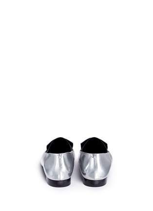 Back View - Click To Enlarge - Alexander Wang  - 'Jamie' elastic band metallic leather slip-ons