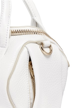 Detail View - Click To Enlarge - Alexander Wang  - Mini Rockie' pebbled leather duffle bag