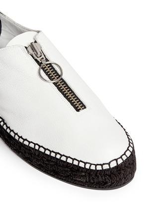 Detail View - Click To Enlarge - ALEXANDERWANG - Devon' zip leather espadrille sneakers