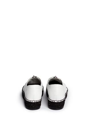 Back View - Click To Enlarge - ALEXANDERWANG - Devon' zip leather espadrille sneakers