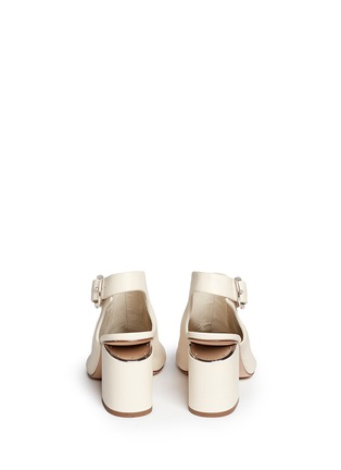 Back View - Click To Enlarge - ALEXANDERWANG - 'Nadia' cutout heel peep toe leather booties