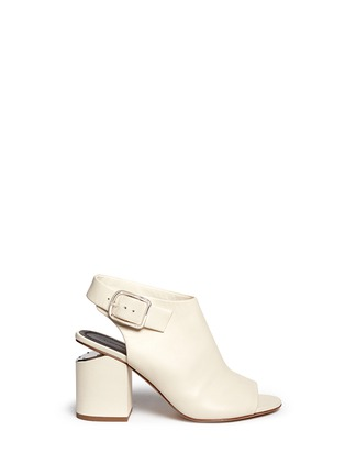 Main View - Click To Enlarge - ALEXANDERWANG - 'Nadia' cutout heel peep toe leather booties