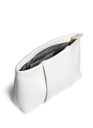 Detail View - Click To Enlarge - Alexander Wang  - 'Dumbo' pebbled leather zip pouch