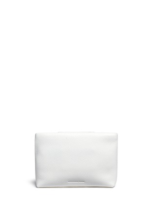 Back View - Click To Enlarge - Alexander Wang  - 'Dumbo' pebbled leather zip pouch