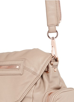 Detail View - Click To Enlarge - Alexander Wang  - 'Mini Marti' washed lambskin leather three-way backpack