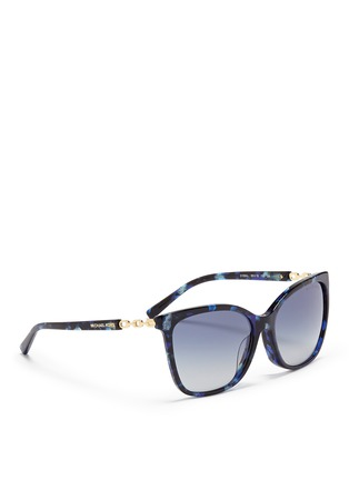 Figure View - Click To Enlarge - Michael Kors - Chain link tortoiseshell acetate sunglasses