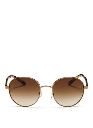 Main View - Click To Enlarge - Michael Kors - 'Sadie III' tortoiseshell acetate temple round sunglasses