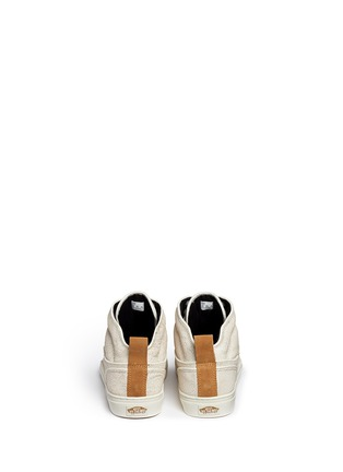 Back View - Click To Enlarge - VANS - 'Alomar' crackle leather mid top sneakers