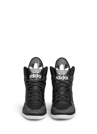 Front View - Click To Enlarge - Adidas - x Rita Ora 'Attitude Up' concealed wedge leather sneakers