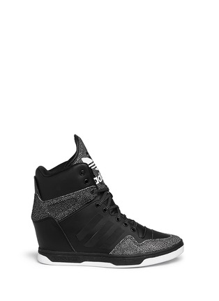 Main View - Click To Enlarge - Adidas - x Rita Ora 'Attitude Up' concealed wedge leather sneakers