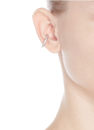 Figure View - Click To Enlarge - Lynn Ban - 'Channel Orbital Hoop' diamond silver single ear cuff